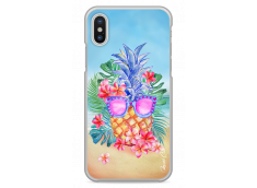 Coque iPhone X Summer watercolor ananas