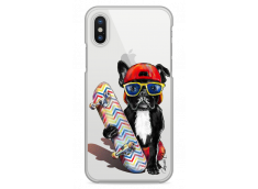 Coque iPhone X Summer watercolor french buldog