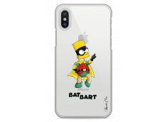 Coque iPhone X Super Bat Bart Simpson cartoon design