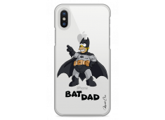 Coque iPhone XR Super Bat Dad Simpson cartoon design