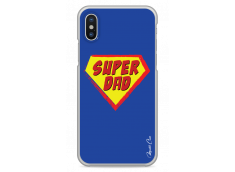 Coque iPhone XR Super Dad - blue design