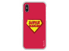 Coque iPhone X Super Maman - red design