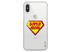 Coque iPhone X Super Mom - design