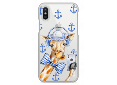 Coque iPhone X Watercolor Marine Giraffe