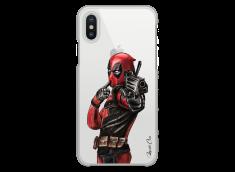 Coque iPhone X Deadpool 2 Watercolor design