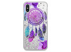 Coque iPhone X  Silver glitter Dreamcatcher artistic color