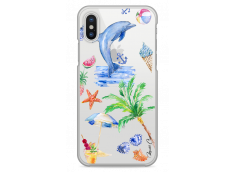 Coque iPhone X Summer watercolor pattern sea