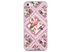 Coque iPhone 5/5s/SE Pink geometric flowers