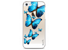 Coque iPhone 5C Blue beautiful butterflies