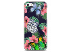 Coque iPhone 5C Butterflies and flowers watercolor