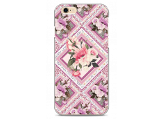 Coque iPhone 6Plus/6SPlus  Pink geometric flowers