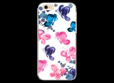 Coque iPhone 6/6S Paint pink & blue butterflies