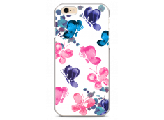 Coque iPhone 6Plus/6SPlus Paint pink & blue butterflies