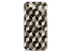 Coque iPhone 7/8 Cubic Black & Gray Geometric Pattern
