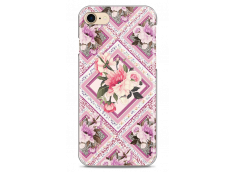 Coque iPhone 7/iPhone 8 Pink geometric flowers