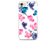 Coque iPhone 7/8 Paint pink & blue butterflies