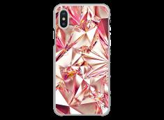 Coque iPhone X Pink Cristal geometric design