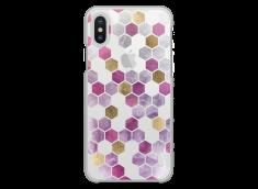 Coque iPhone X Purple Cubic