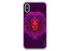 Coque iPhone X Power Pink Lion Mandala