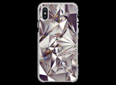 Coque iPhone X Purple Cristal geometric design