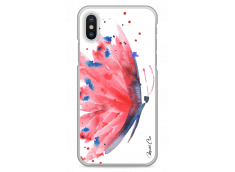 Coque iPhone X Paint watercolor butterfly