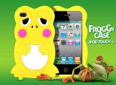 Coque iPod Touch 4 Froggy-Jaune