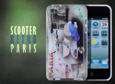 Coque iPod Touch 4 Retro Scooter Paris