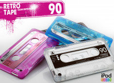 Coque iPod Touch 4 Retro Tape - Clear Edition