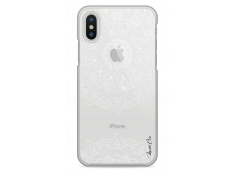 Coque iPhone XR White Mandala design