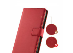 Etui iPhone 11 Pro Max-Leather Wallet-Rouge