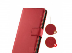 Etui Samsung Galaxy A12 Leather Wallet-Rouge