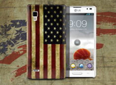 Coque LG Optimus L9 Vintage USA Flag