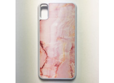 Coque iPhone X/XS Texture Marbre Rose Pastel