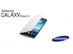 Façade/Etui Samsung Galaxy Mega i9200/i9205 Flip Cover-Blanc