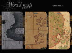 Etui Samsung Galaxy Note 2 - World Map