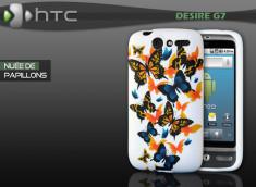 """Coque HTC Desire G7 """"Nuée de Papillons"""""""