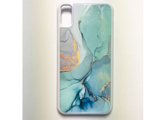 Coque iPhone X/XS Texture Aquarelle Vert et Or