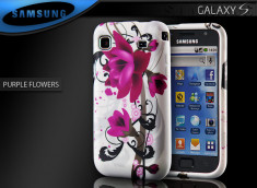 "Coque Galaxy S i9000 ""Purple Flowers"""