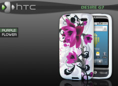 "Coque HTC Desire G7 ""Purple Flower"""