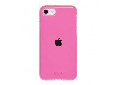Coque iPhone 7/8/se 2020 Clear Hybrid Fluo Rose