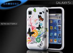 "Coque Galaxy S i9000 ""Retro Butterfly"""