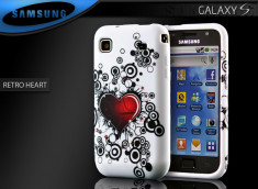 "Coque Galaxy S i9000 ""Retro Heart"""