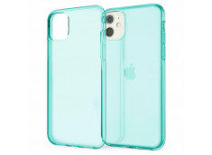 Coque iPhone 12/12 Pro Clear Hybrid Fluo Bleu