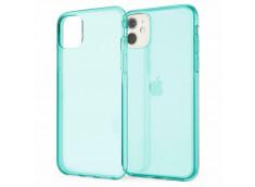Coque iPhone XR Clear Hybrid Fluo Bleu