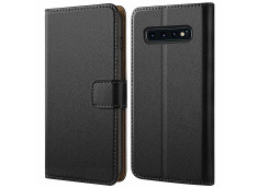 Etui Samsung Galaxy S10 Leather Wallet-Noir