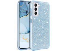 Coque Samsung Galaxy S21 Glitter Protect-Bleu