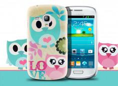 Coque Samsung Galaxy S3 mini Manga Chouettes-Modèle 2