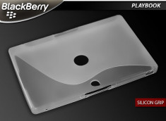"Coque BlackBerry PlayBook ""Silicon Grip""-Blanc translucide"