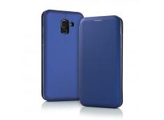 Etui Huawei Y6 2018 Flip Metalic-Bleu