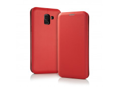 Etui Samsung Galaxy J6 Plus Flip Metalic-Rouge